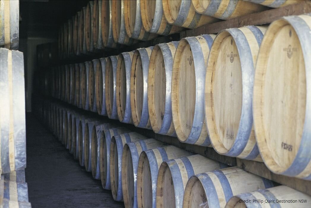 hunter valley wine barrels